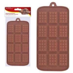 """Форма для шоколадных конфет силиконовая Мультидом """"Плиточки"""" фото"""
