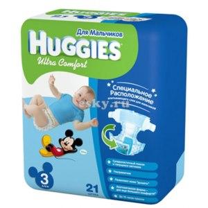 Подгузники Huggies Ultra Comfort для мальчиков фото