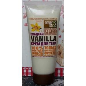 Крем для тела ORGANIC SHOP Сладкая Vanilla фото