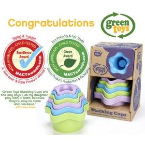 Green Toys Пирамидка-стаканчики Stacking Cups фото