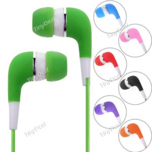 Наушники TinyDeal 3.5mm Colorful Stereo In-Ear Earphones for MP3 Mobile Phones фото