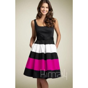Платье Allegro DS-0052XL Urocza Sukienka Kobieca w Paski фото