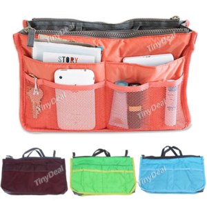 Органайзер для сумки Tinydeal Multi-functional Bag Organzier Carrying Bag Storage Bag Pouch Holder with Double Zippers for Collecting Things HHI-115510  фото