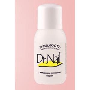 Жидкость для снятия лака Dr.Nail c кальцием и лимонным маслом фото