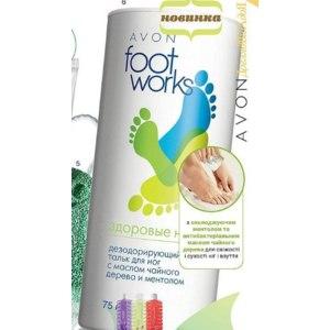 Дезодорирующий тальк для ног Avon С маслом чайного дерева и ментолом фото