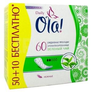 Прокладки ежедневные Ola! Daily зеленый чай   фото