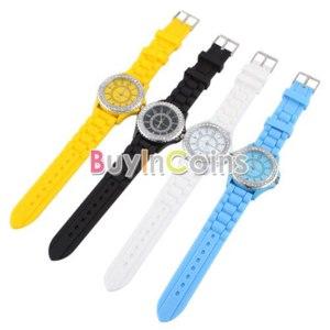 Наручные часы Buyincoins Stylish Diamond Design Stainless Steel Back Women Lady Wrist Watch Best Gift  фото