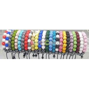 Браслет Buyincoins Crystal Rhinestones Disco Clay 11 Balls Hematite Round Shamballa Bracelet фото