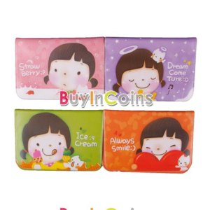 Визитница Buyincoins New Lovely Girls Business ID Credit Card Wallet Holder Pocket Bag Case Box  фото