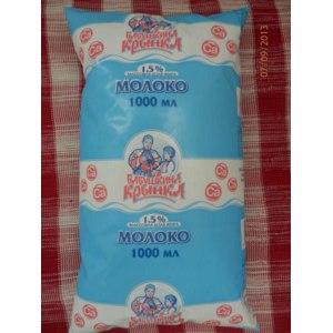 """Молоко """"Бабушкина крынка"""" питьевое, обогащенное кальцием, пастеризованное с массовой долей жира 1.5% фото"""