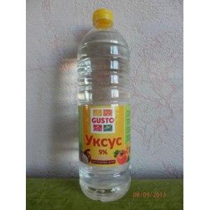 Уксус Gusto 9% спиртовой для пищевых целей фото