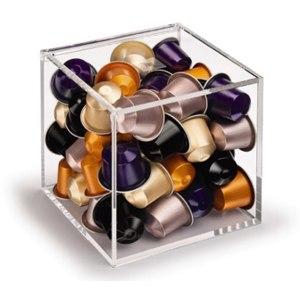 Подставка для кофейных капсул Nespresso Club Glass Collection Cube Диспенсер в виде прозрачного куба фото