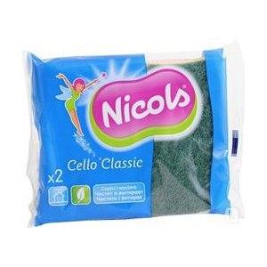 Губки для мытья посуды  Nicols Cello Classic целлюлозные 2шт фото