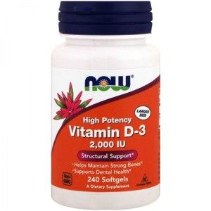 БАД Now Foods Vitamin D-3 2000 IU фото