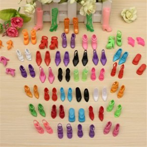 Aliexpress Обувь для куклы Барби 40 Pairs 80pcs Doll Shoes Fashion Cute Colorful Assorted Shoes Kit For Barbie Doll With Different Styles Baby Toy Accessories фото