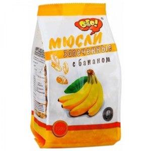 Мюсли ОГО! запеченные с бананом фото