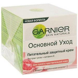 Крем для лица Garnier Питательный защитный, Экстракт розы + Витамин Е Для сухой и чувствительной кожи фото