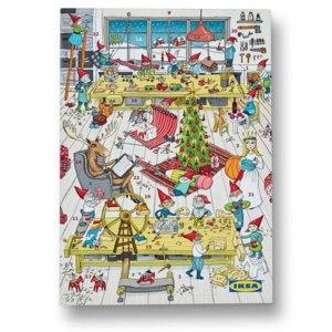Адвент-календарь IKEA Рождественский календарь  фото