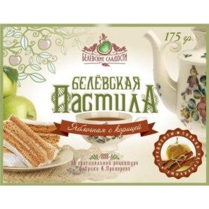 """Пастила Белевская """"Яблоко с корицей"""" фото"""