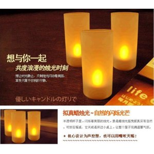 5pc rechargeable led candle light Electronic with frosted holder/Tea Christmas Promotion/magic фото