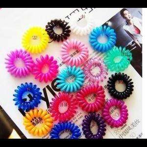 Резинка для волос Aliexpress 1pc Novelty Cute Candy Colors Telephone Line Gum Hair Jewelry Headbands Top Selling A10R19C фото