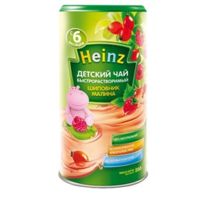 Детское питание Heinz Детский чай «Шиповник, малина» фото
