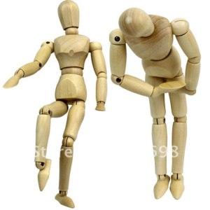 Деревянная фигурка Aliexpress Flexible Schima Human Wooden Puppet Model Figure фото