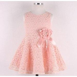 Платье AliExpress 2014 Summer New girls dress,bow princess dress,Children lace dress,kids noble fairy dress high quality фото