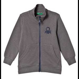 Свитшот United Colors of Benetton Dark Grey Zip Sweatshirt Артикул номер 375915_10 фото