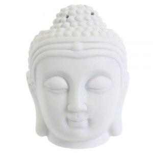 Аромалампа Jones Home & Gift White Buddha Head Oil Burner арт. OB_29002_white фото