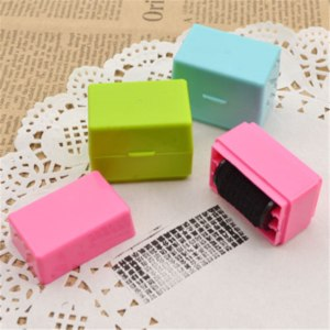 Роликовый штамп для защиты информации Aliexpress Confidential Seal Security Hide ID Garbled Self-Inking Rubber Stamps Protect Identity Theft Stick Confidential Seal Office Use фото