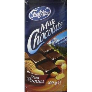 Молочный шоколад FirstNice Milk Chocolate With Peanuts фото
