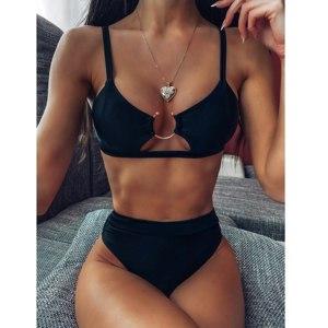 Купальник AliExpress Sexy Women Swimwear High Waist Bikini Set High Leg Bathing 2020 Snake Skin Printed Push Up Bather Biquini фото