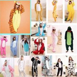 Пижама AliExpress Adults Flannel Pajamas All in One Pyjama Animal Suits Cosplay Costumes Adult Garment Cute Cartoon Animal Onesies Pajamas фото