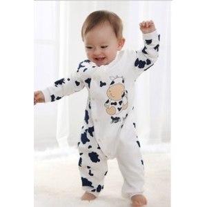 Комбинезон AliExpress Free shipping Children pajamas baby rompers newborn baby rompers long sleeve underwear cotton pajamas boys girls autumn rompers фото