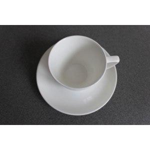 Чашка с блюдцем Русский Фарфор Гжельский костяной фото