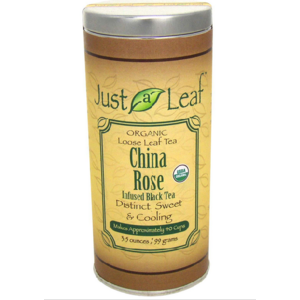 Чай листовой Just a Leaf Organic Tea China Rose Infused Black Tea фото