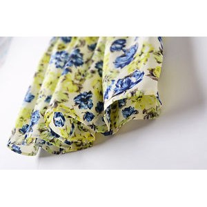 Юбка Ebay Fashion Women Summer Floral Casual Chiffon Dress Mini Pleated Skirt C827-3 фото