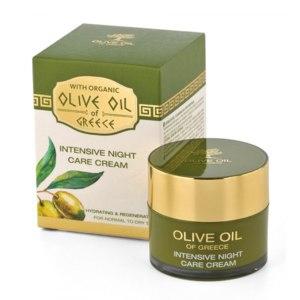 Крем для лица ночной OLIVE OIL OF GREECE Интенсивный уход для нормальной сухой кожи фото