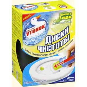 Очиститель унитазов Туалетный утенок диски чистоты фото