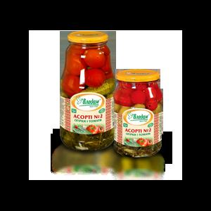 Консервация Владам Ассорти №2 Огурцы и томаты фото