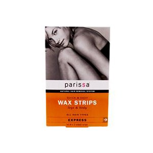 Восковые полоски Parissa Quick & Easy Wax Strips, Legs & Body, 16 (8 Two-Sided) Strips фото