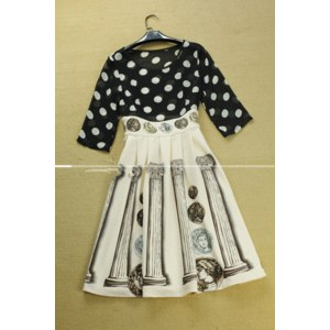 Платье AliExpress Fashion women's 2014 vintage patchwork print dot one-piece dress фото