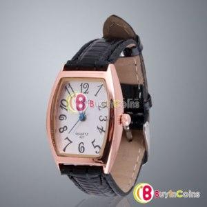 Наручные часы Buyincoins Stainless Steel Quartz Style Wrist Leather Strap Watch Women's Fashion 472 фото