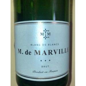 Белое игристое вино M. de Marville Blanc de Blancs Brut фото