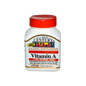 Витамины 21st Century Health Care Vitamin A 10000iu фото