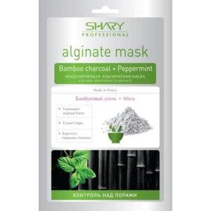 Альгинатная маска Shary Bamboo charcoal + Peppermint Моделирующая для лица, шеи и области декольте фото