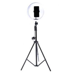 Лампа светодиодная кольцевая Goodly   LED RING 26 см с Bluetooth пультом, регулируемым штативом 210 см, держателем для телефона для профессиональной съемки фото