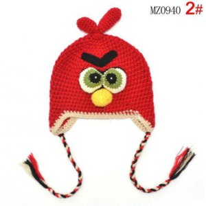 Шапка AliExpress энгри бердс  Retail ! 2013 NEW Arrival baby caps Handmade Children Crochet Hats Kids Cap baby winter hat crochet baby hat Gift   фото