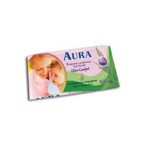 Влажные салфетки Aura Ultra Comfort для детей с алоэ фото